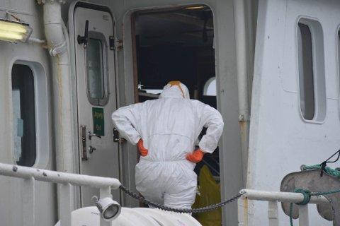 HAR KONTROLL: Åtte av ni ombord på et fiskefartøy fra Sogn og Fjordane ligger nå til kai i Lofoten. Utbruddet er under kontroll, sier legevakta i Vestvågøy kommune.