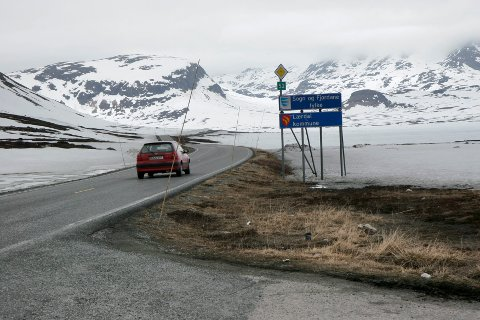 Illustrasjonsfoto: Lærdal, rv 52, Hemsedal, Breistølen, fylkesgrensa,
