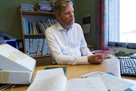 Barnebarnet: Advokat Snorre Seim i Florø hugsar at bestefaren var opptatt av dei store spørsmåla i livet.