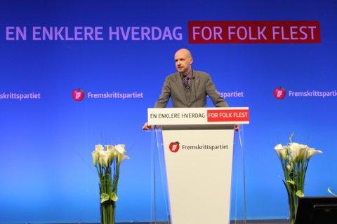 Slutt å syt, begynn å yt, var bodskapen til heimfylket frå Frank Willy Djuvik på FrP-landsmøtet.