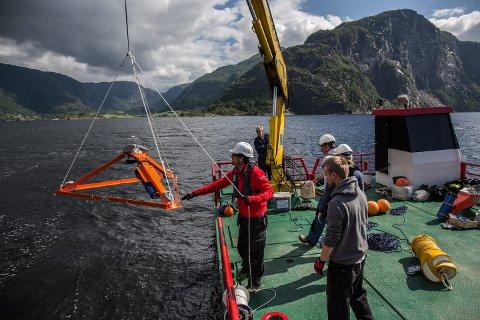 NYE UNDERSØKINGAR: Det Norske Veritas (DNV) gjennomførte målingar i fjorden. No spørst det om det blir nye deponiutgreiingar på land.