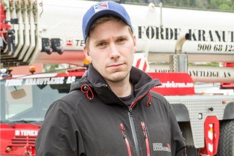 VANN FRAM: Stig Are Hoddevik er dagleg leiar i Førde Kranutleige AS. (ARKIVFOTO.)