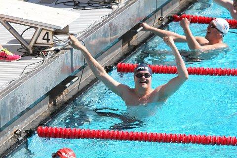 Marcus Haus vinn gull i 100 m fri
