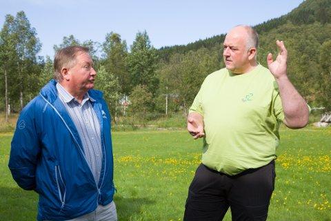 Sitjande ordførar Mathias Råheim (H) innrømmer at det vil bli ein jamn kamp om ordførarstolen med Johnny Kårstad (Sp).