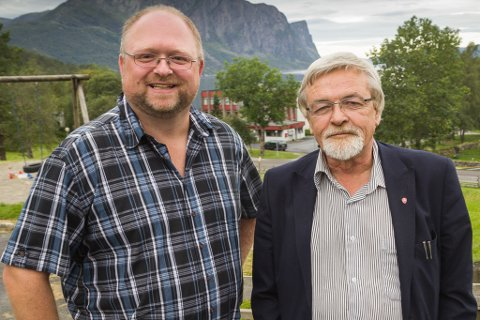 Frå venstre Morten Askvik (Sp) og Harry Malvin Mowatt (Ap).