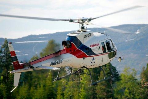AIRLIFT OG FORSVARET: Her er ein av helikoptera som skal fly for forsvaret.