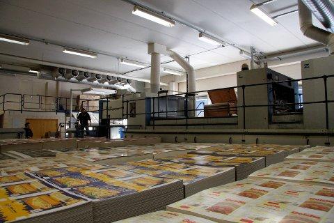 LÅG I FRONT: På fabrikken i Angedalen vart det produsert store mengder øskjer til m.a. fiskeriindustrien og pizzafabrikkane. I 2011 var det slutt, to år etter at det danske selskapet Schur kjøpte fabrikken.