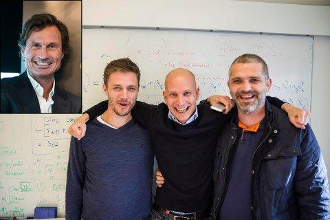 SUKSESS: Petter Stordalen (innfelt) går inn med større investering i appen Tibber, ei bedrift han meiner er eit unikt startup-selskap som kjem til å vekse kaftig i tida framover.