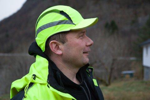 HUGSA HJELM: Prosjektleiar Jan Tore Gravdal meiner det var på høg tid at blodbøken blei felt.