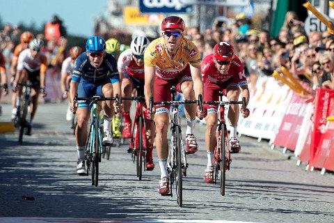 Alexander Kristoff under årets avsluttande etappe i Tour des Fjords i Stavanger.