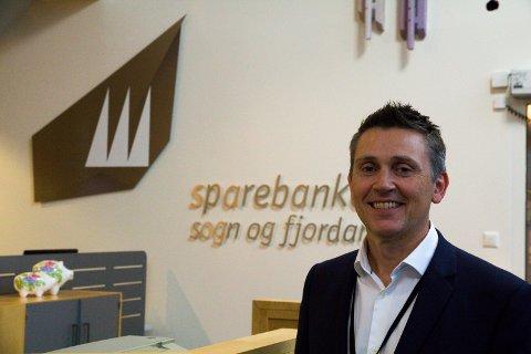 KUTTAR KONTOR: Administrerande direktør Trond Teigene i Sparebanken Sogn og Fjordane