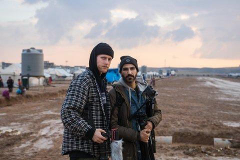 FILMAR: Mats Muri og Thee Yezen Al-Obaide er i Irak for å lage dokumentarfilm om barn i krig.