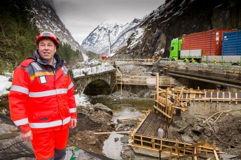 Svein Reidar Dale er Statens vegvesens prosjektleiar for E39 mellom Lavik og Skei.