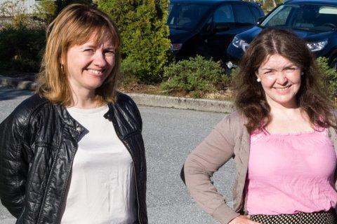 Dataspel-positive: Fjaler-ordførar Gunhild Berge Stang og rektor på Dale vidaregåande skule, Gro Fivelsdal.