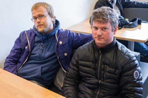 F.v. Stig Monsrud og Sveinung Hamre er begge frå Sandnes i Rogaland, og jobbar som prosessoperatørar på Snorre A.