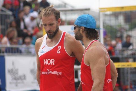 TAP: Det gjekk ikkje vegen for Geir Eithun og Iver Horrem i dagens kvartfinale mot Belgia.