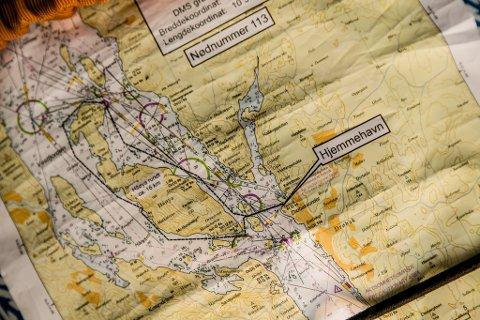 Illustrasjonsfoto av eit sjøkart.