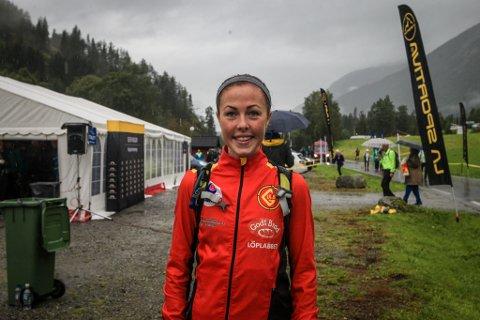 VERDENSCUP: Eli Anne Dvergsdal frå Jølster vann Tromsø Skyrace Vertikal Kilometer då ho hoppa inn framfor den kjende i motbakkeløparen Emelie Forsberg.