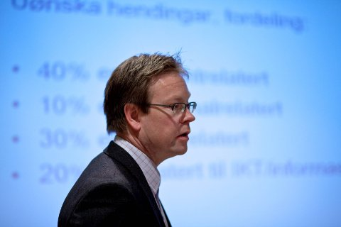 TOPPSJEFEN: Jon Bolstad avviser at dei tilsette blir overkøyrde: – Det handlar om eit diskusjonsgrunnlag.