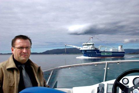 BÅT NUMMER FEM: Det var ein stolt Ove Vilnes som presenterte nybygget Artic Fjord i Frøysjøen i mai i år.