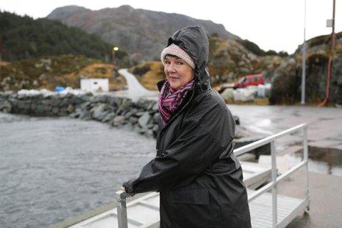 Treng ferjelem: Anne-Lene Normann har planar om nytt tomtefelt på øya Skorpa, men treng ferjelem for å få realisert utbygginga.