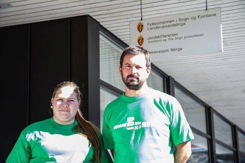 KAN FÅ KUTT: Regjeringa legg opp til kutt til organisasjonar. Det vil gå tungt ut over 4H, her ved regionleiar Åge Avedal og frivilligarbeidar Inger-Margrethe Ellefsplass Sørland.