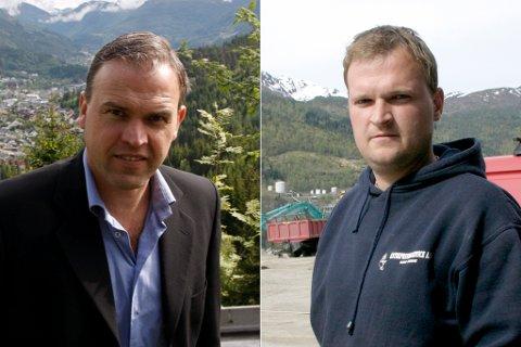 PÅ TOPPEN: Trond Valaker (t.v.) og Andre Grov (t.h).