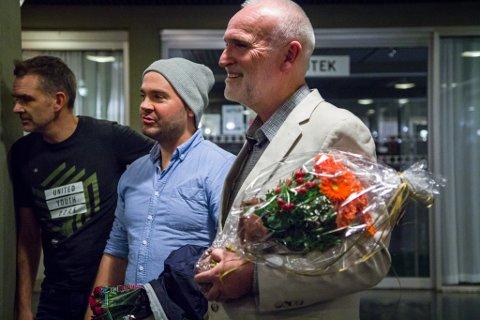 LØNNA FOR STREVET: At Førdefilmen vart ein suksess for begge filmskaparane, kan dei fulle kinosalane støtte opp under. Espen Nyttingnes og Hans Jakob Reite.