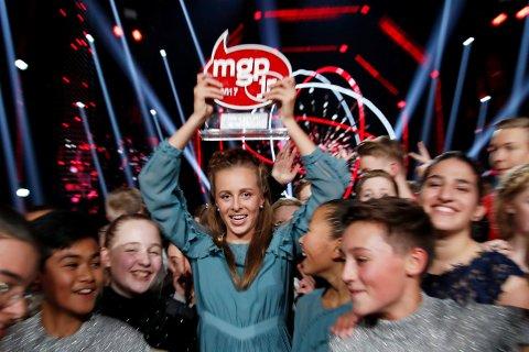 VANN:Oselie Henden vant MGPjr med songen «Verda vår» laurdag kveld.
