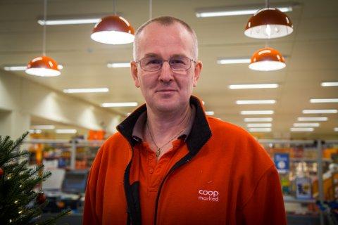 REKORDÅR: Dagleg leiar Øystein Årdal på Coop Jølster kunne levere eit rekordår for matbutikken på Skei.