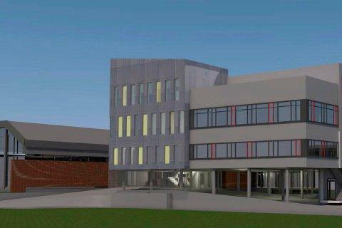 Forslag til nybygg ved Førdehuset.