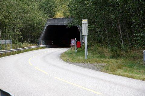 PERIODEVIS STENGD: Frå 13. mars vil denne tunnelen vere stengd på dagtid i periodar.