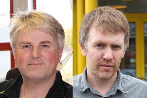 PROFESSORAR: Jahn Roger Andersen (t.v.) og Christian Moltu har blitt vurderte som professorkompetente.
