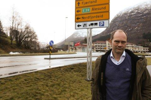 NØGD: Medlem i interesseutvalet for Rv52 Hemsedal, Oddmund Klakegg er nøgd.