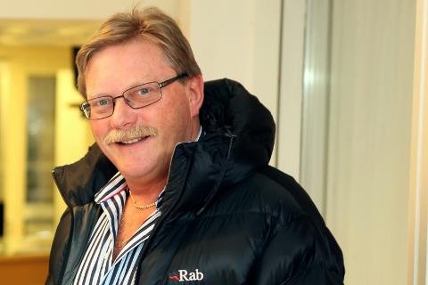 Banksjef i Sparebanken Sogn og Fjordane, Ole Aukland og leiar i Florø T & I.F Rune Osa