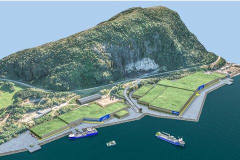 LANDBASERT: Dette anlegget er planlagt bygd like utanfor Florø.