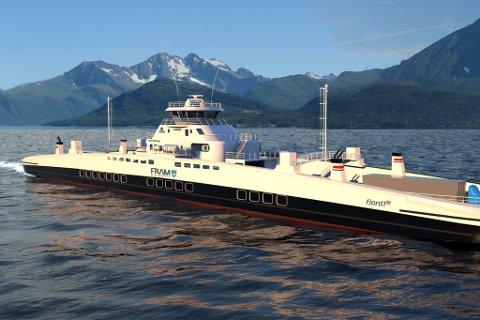 TO ANBOD: Fjord1 skal operere dei to største ferjesambanda på Sunnmøre frå 2019 og 2020, med slike nye ferjer.