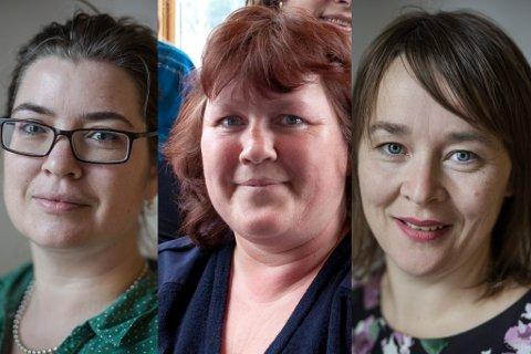 UT: Magnhild Runde (V), Dagmar Elvebakk (Ap) og Liv Jorunn Seljevoll (SV) forsvinn alle ut av Naustdal kommunestyre.