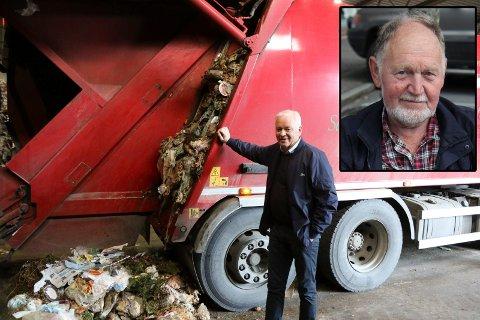 Trygve Fonn (innfelt) meiner det er for vanskelig å kvitte seg med farleg avfall. – Sjeldan problemstilling, seier Svein-Ottar Sandal, dagleg leiar i Nomil (t.v)