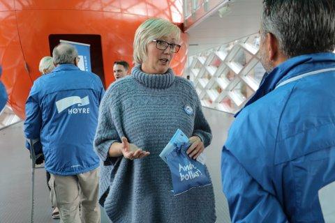 STORTINGSREPRESENTANT: –Trykket på stamvegopprustinga mellom Bergen og Ålesund må haldast oppe, meiner Frida Melvær (H).