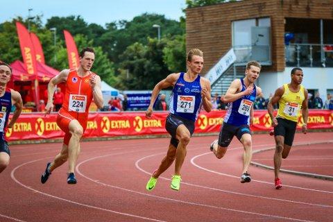 MEDLAJEJEGAR: Øyvind Strømmen Kjerpeset sprang inn til bronse både på 100 meter og 200 meter under NM i Sandnes.