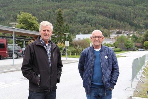 Enket. Val 2017. F.v Arne Strømmen og Stig Øyen