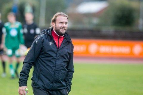 FORVENTA: Sigeren mot Åsane 2 i treningskampen laurdag, var fullt forventa, ifølgje trenar Bjørn Totland.