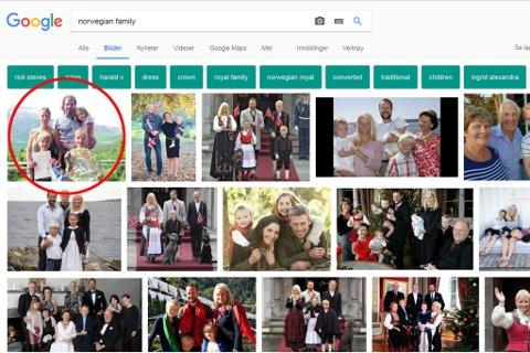 LETT SØKBART: Skriv du inn «norwegian family» i Google sitt bildesøk, er familien i Naustdal det første som dukkar opp. Som resultat har fleire brukt bildet som illustrasjonsfoto på Facebook.