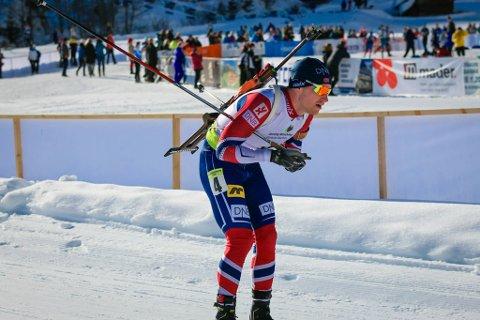 GJEKK SEG OPP: Håvard Gutubø Bogetveit gjekk seg opp heile 22.-plassar og enda på 3.-plassar. Bildet er frå EM i Ridnaun.