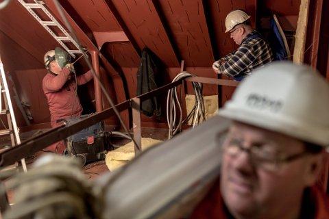 FULL AKTIVITET: Havyard sitt verft i Leirvik stod for om lag halvparten av inntektene til selskapet i første kvartal.