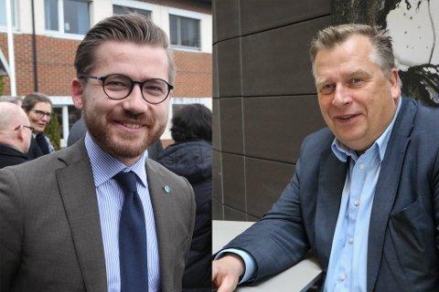 FJORDINGAR: Sveinung Rotevatn (t.v.) og Atle Hamar er no begge statssekretærar i Klima- og miljødepartementet.