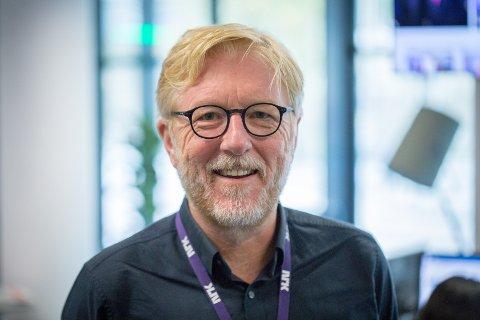 SYNLEG: Pedersen har som mål å vere ein synleg redaktør, både i Firda og i lokalsamfunnet.