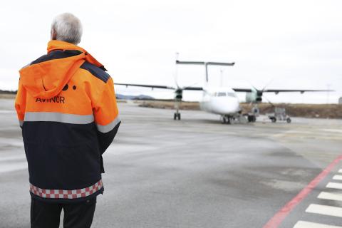Florø Lufthamn: Widerøe flyr ikkje lenger mellom Florø og Bergen tidleg fredag morgon. Arkivfoto: Dag Nesbø Frøyen