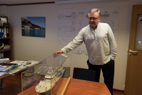 NYSKAPING: Ove Vilnes sel reiarlaget og skal bruke tida på å utvikle nye båttypar for oppdrettsnæringa gjennom selskapet Artic Group Ships.